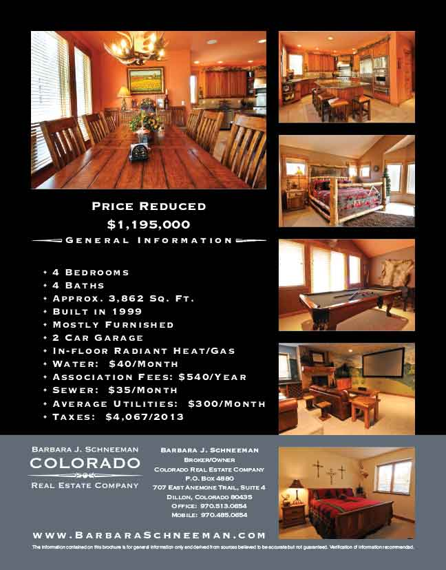 Colorado Real Estate Brochure Back